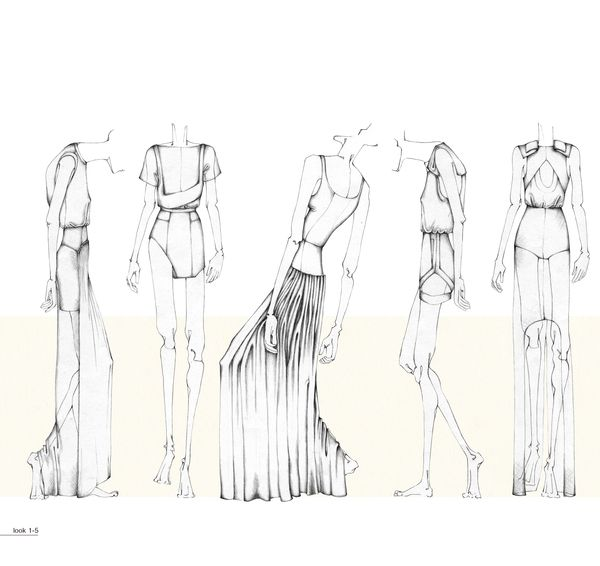 Fashion Portfolio - fashion design illustrations; dress drawings; fashion sketchbook // Nina Hecht