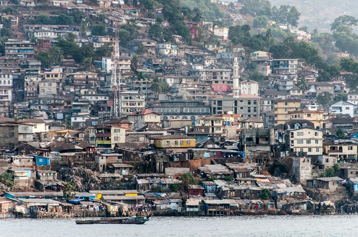 Freetown, Sierra Leone, as Seen From the Harbor