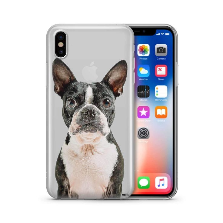 Boston Terrier' - Clear Phone Case Cover
