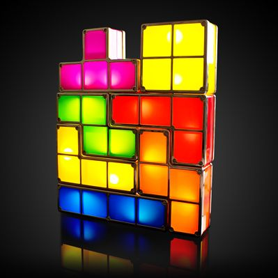 Taking the classic block juggling game from the screen to the table top, these light-up Tetris bricks make a terrific decorative addition to any room.