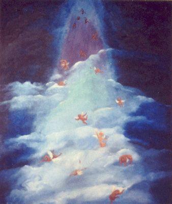 Imagenes De Angeles Celestiales   ... usó las tijeras de plata celestial para cortar un pedazo de cielo