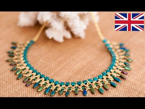 ITA DIY Tutorial Collana Half Moon in collaborazione con Perlinebijoux.com - YouTube