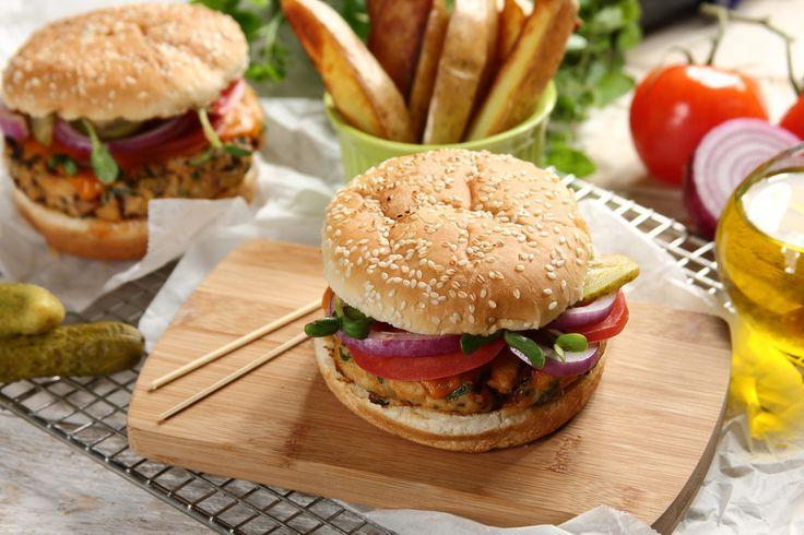 Chrupiące hamburgery z indyka - Słoneczna Samba