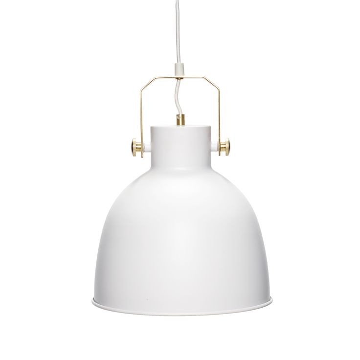 White and gold lamp. Item number: 890413 - Designed by Hübsch