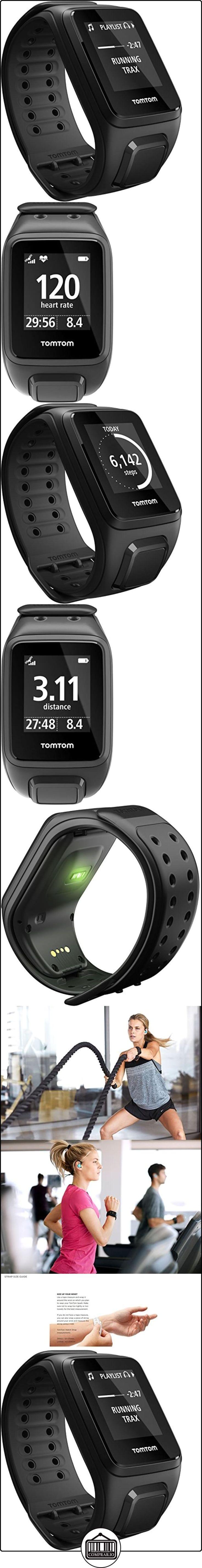 TomTom Spark Cardio - Reloj deportivo, talla grande, color negro  ✿ Relojes para hombre - (Gama media/alta) ✿