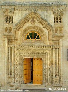 Entrance of the SELAHADDİN-İ EYYUBİ MOSQUE- SİLVAN TURKEY