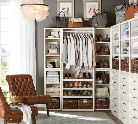 Build Your Own   Sutton Modular Closet Collection | Pottery Barn    Iu0027d