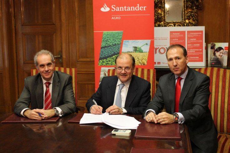 Banco Santander facilita productos y servicios financieros en condiciones ventajosas a las empresas agro alimentarias aragonesas (22/12/14) http://bsan.es/1rdajSa
