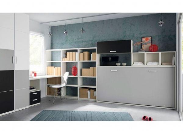 cama abatible blanca y gris 16 cama plegable individual