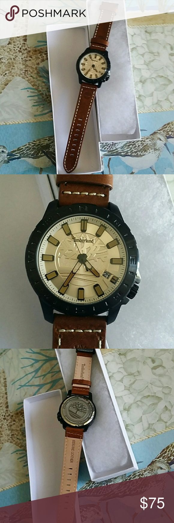 Men's Timberland Watch Men's Timberland Watch. Genuine  leather. New without tag. Timberland Accessories Watches