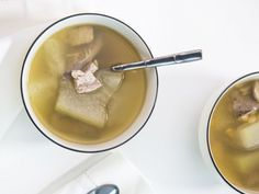 canada coats Winter melon and Dried Scallop with Pork Liver Soup