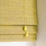 yellow roman blind