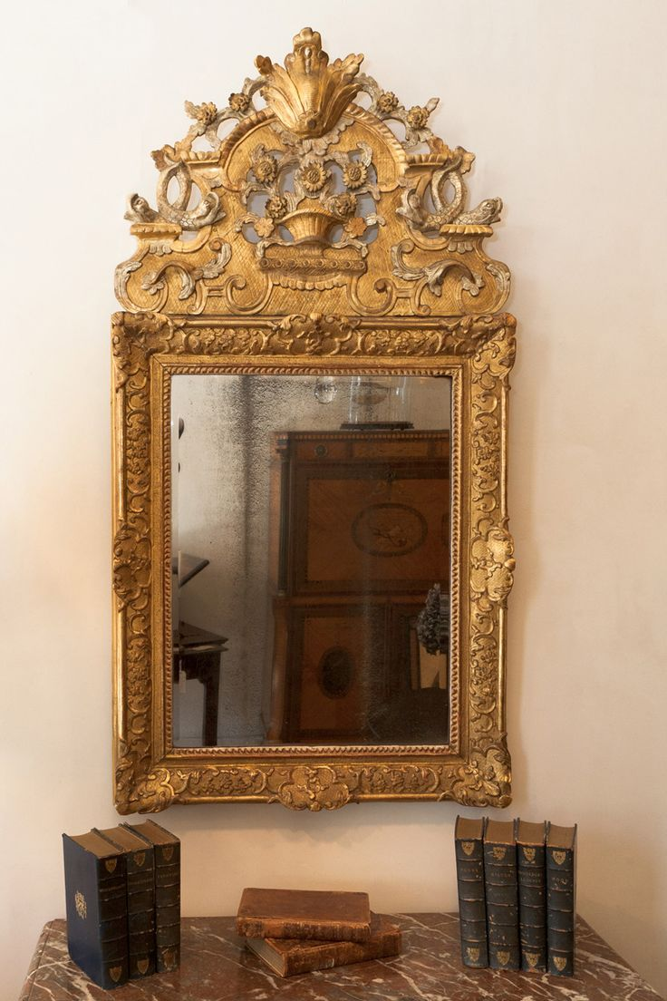 Gilt wood French Regence mirror, early 18th century, Julia Boston Antiques, UK