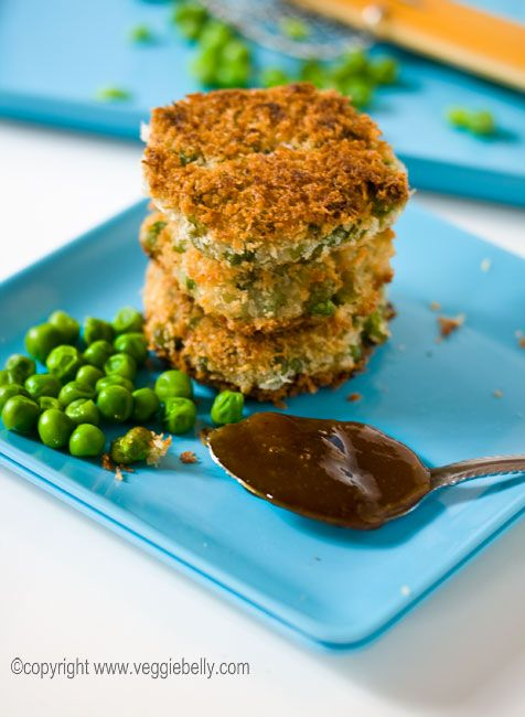 Thought Kristin and Brandon might like these panko crusted pea fritters with tamarind jelly (esp. since dad sends you panko bread crumbs :-)