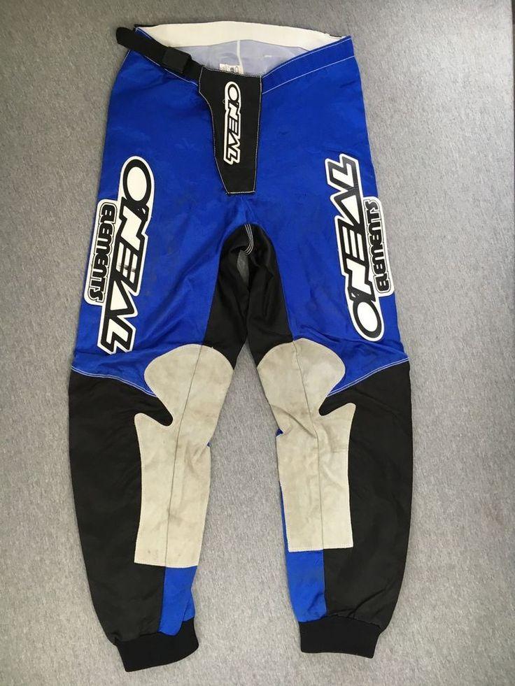 ONEAL Racing Pants Elements Vtg 80s 90s Motocross Motorcycle MotoX Bike Nylon 28 #ONeal #MOTOCROSS