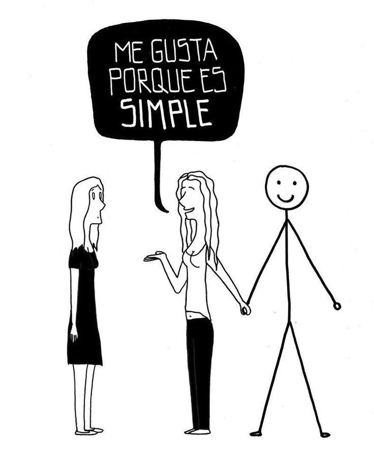 Me gusta porque es simple