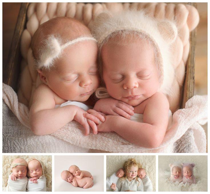 Victoria BC, Newborn Photography, Identical Twin Girls - Twins - Newborn Twins - Twin Poses