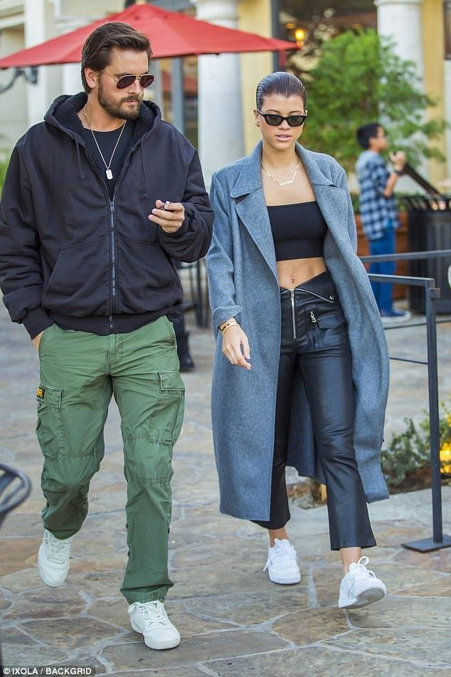 Lovers in LA: Sofia Richie, 19, and Scott Disick, 34, brought their love back to the west ...