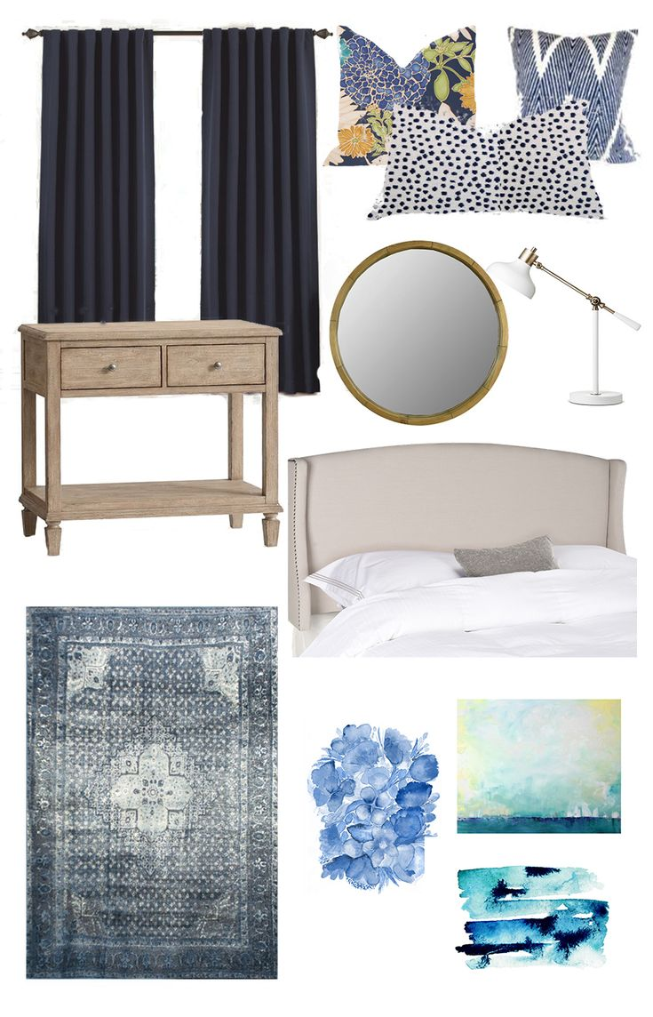 Coastal Inspired Master Bedroom design - Love this  calm and serene bedroom style