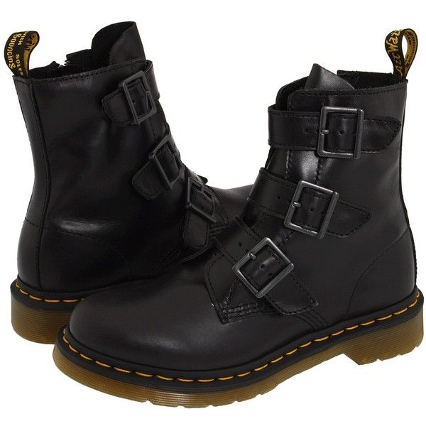 160ad893d069 Dr. Martens Blake 3 Strap Buckle Boot (€79) ❤ liked on Polyvore featuring  shoes, boots, ankle booties, dr. martens, women, ankle boots, buck…