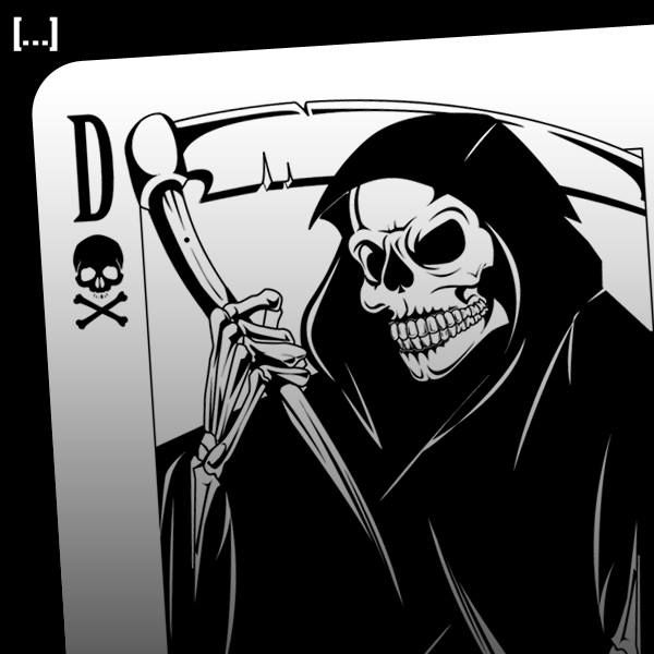 dead mans hand grim reaper playing card design