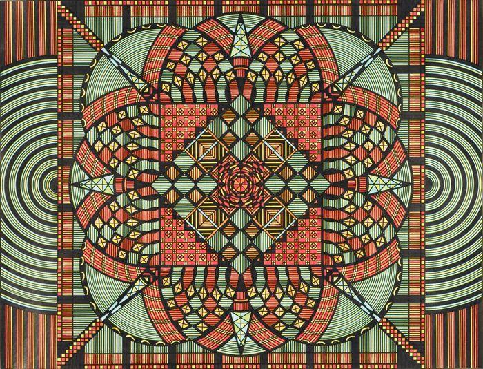 aztec: Inspiration, Graph Paper, Colors, Illustration, Art, Design Patterns Prints, Drawing, Geometry