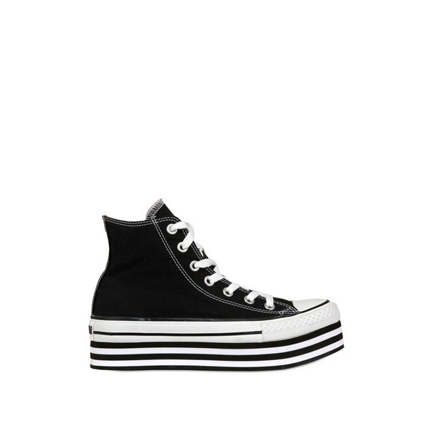 CONVERSE 50mm All Star Platform Canvas Sneakers ($130) ❤ liked on Polyvore