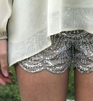 sparkly shorts? we need these