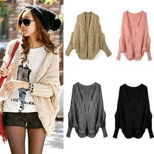 Wool: Coarse Wool Sleeve Length: Full Material: Polyester Item Type: Cardigans Style: Casual Size: One Size Color: Brown, Pink, Gray, Black Note: Manufactured in Asia. Size might be different than the
