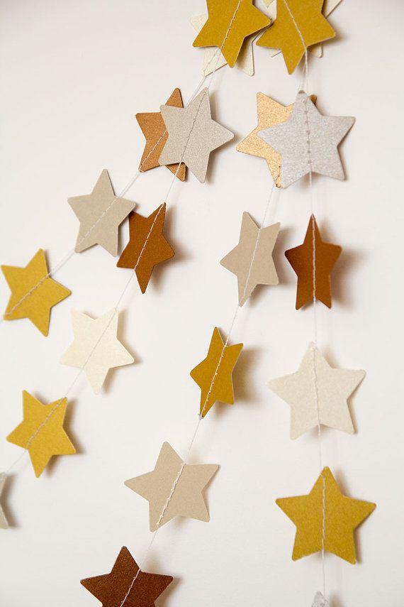 Guirnalda de papel, estrella garland, guirnalda wedding, decoración de fiestas, guirnalda de Navidad, guirnalda de vacaciones, año nuevo Nav...