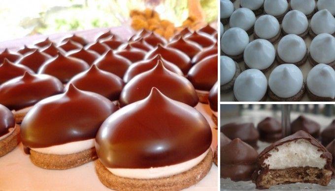 Vynikající bílkové čepičky v čokoládě