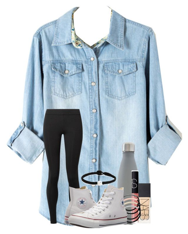 """""""so bored rn"""" by cassieq6929 ❤ liked on Polyvore featuring The Row, S'well, NARS Cosmetics, L. Erickson, Lokai and Converse"""