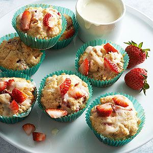 Strawberry Cream Scuffins From Better Homes and Gardens, ideas and improvement projects for your home and garden plus recipes and entertaining ideas.