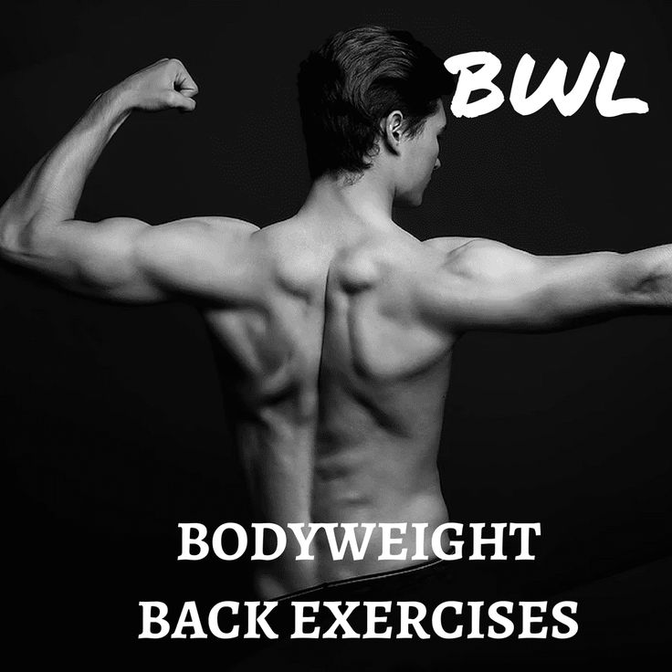 Bodyweight Back Exercises Bodyweight back exercises are one of the secrets to a great calisthenics body!