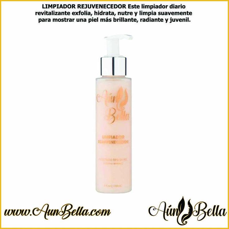 LIMPIADOR REJUVENECEDOR Este limpiador diario revitalizante exfolia  https://aunbella.com/collections/cuidado-de-la-piel/products/limpiador-rejuvenecedor    #Skincare #AunBella #AunBella