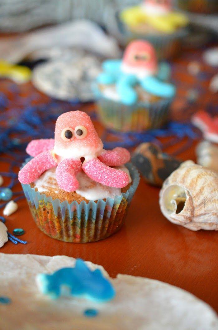 Ninas kleiner Food-Blog: Kürbis-Käsekuchen-Muffins zum Meerjungfrauen-Geburtstag
