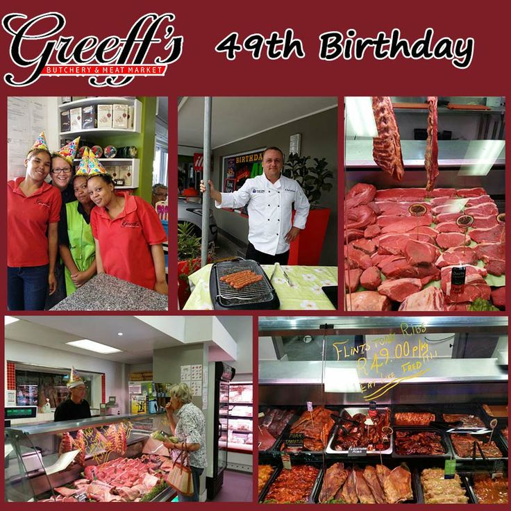 It is Greeffs Butchery & Cafe 49th Birthday! Come down and enjoy the festivities with all of us and enjoy our great specials! #birthday #celebration