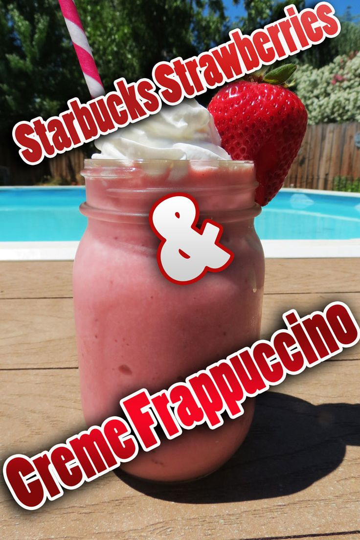 We found a recipe for the Starbucks Strawberries & Creme Frappuccino so we decided to give it a try. It took less than 5 minutes total. If you're a fan of Starbucks' Strawberries and Cream Frappuccino, you can use this recipe to make it at home any time you want! It is traditionally a coffee-free drink, but you can still add it in if you'd like... #recipe