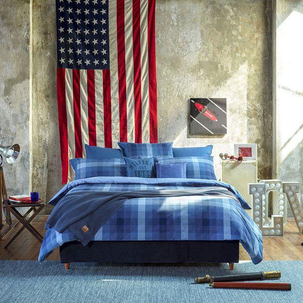Tommy Hilfiger Check Denim Spirit Duvet Cover Super King 225 Liked On Polyvore Featuring Home Bed Bat Bed Linen Design Luxury Duvet Covers Bed Design