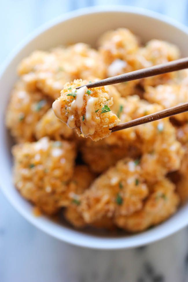 Bang Bang Chicken - Amazingly crisp chicken bites drizzled with sweet ...