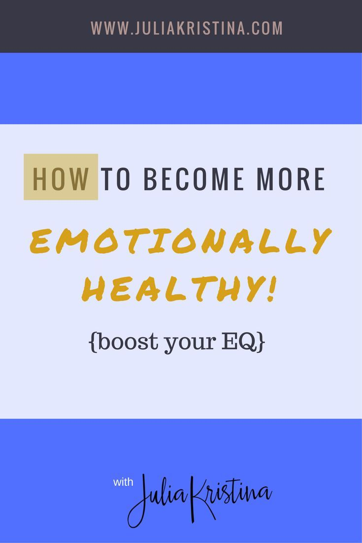 Although it can sometimes feel like the people who are the most emotionally healthy were just born that way, but the truth is, becoming emotionally healthy, grounded and relatively stable (take that with a grain of salt), is something most of us have to work on. So what can we do to work on becoming both more emotionally intelligent and emotionally healthy? Click to watch the video now or Pin it for later!