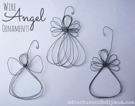 Charming and so easy to make, learn to create these wire angel ornaments via…
