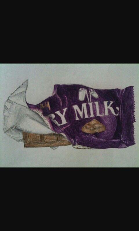Drawing of Dairy Milk bar