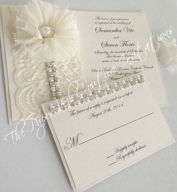 Vintage Shabby Glitz & Glamour  Ivory and by thepaperveilcouture