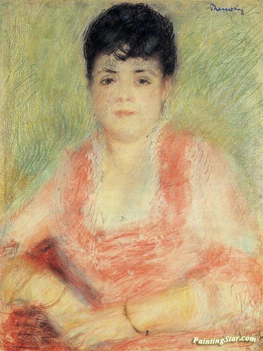 Portrait in a Pink Dress Artwork by Pierre Auguste Renoir