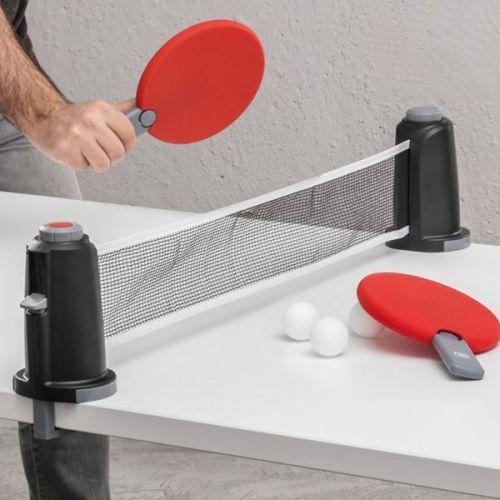 Set complet de ping pong portable - 22,90 € - Le Set complet de ping pong portable pour jouer en vacance, à la maison, au bureau... à petit prix, plus d'infos sur Planete Discount
