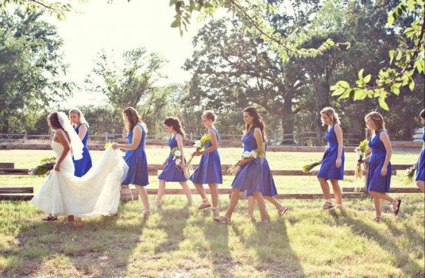 blue blue dresses....cobalt blue accessory wedding.