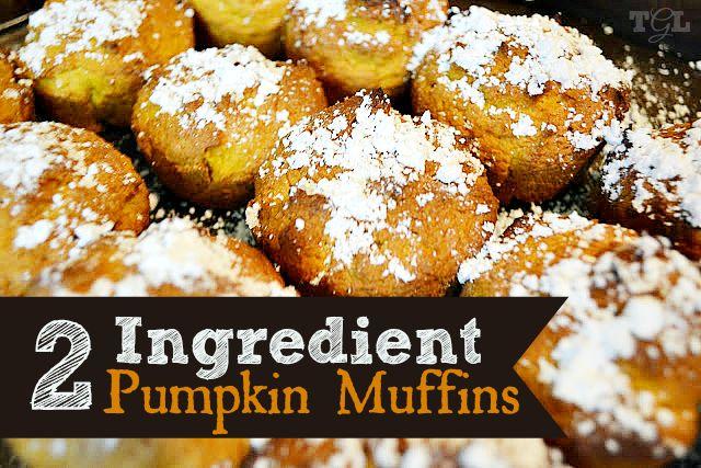 2 Ingredient Pumpkin Muffins   This Girls Life Blog