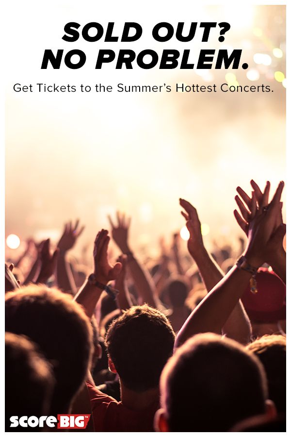From Beyoncé to the Rolling Stones, visit ScoreBig.com to find tickets to this summer's most-anticipated concerts. ScoreBig helps you get great tickets at the price you choose, not the price someone else chooses for you. When you make an offer, you save up to 60% below box office price with no fees or shipping charges.