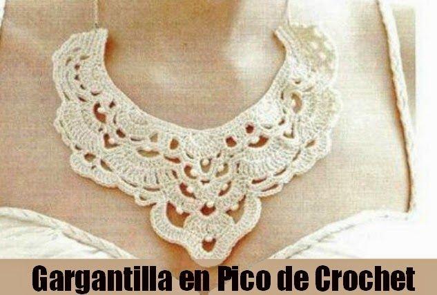 Gargantilla de Crochet en Pico Patron - Patrones Crochet